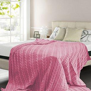 Плед вязаный хлопок Buenas Noches, розовый, 150*200 см