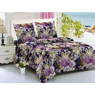 КПБ мако-сатин печатный Luxury, фиолетовый