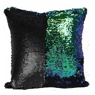 Подушка переводная из пайеток Magic Shine, черный бриз, 40*40 см