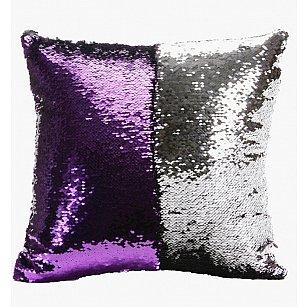 Подушка переводная из пайеток Magic Shine, фиолетовое серебро, 40*40 см
