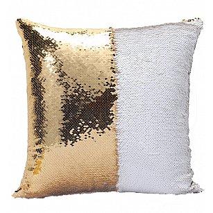 Подушка переводная из пайеток Magic Shine, полярное золото, 40*40 см