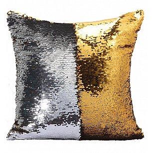 Подушка переводная из пайеток Magic Shine, золотое серебро, 40*40 см