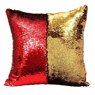 Подушка переводная из пайеток Magic Shine, золотой рубин, 40*40 см