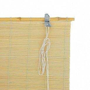 "Бамбуковая рулонная штора ""Осака"", натуральный, 100 см"