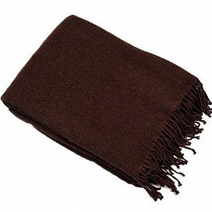 Плед шерсть мериноса, коричневый, 140*200 см