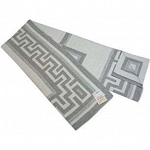 """Одеяло хлопковое """"Греция"""", белый, светло-серый, 140*205 см"""