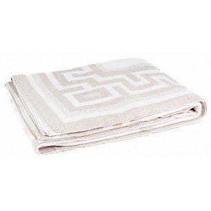 """Одеяло хлопковое """"Греция"""", белый, бежевый"""