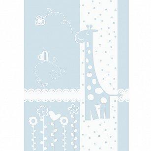 """Одеяло детское """"Чунга-Чанга"""", белый-голубой, 100*140 см"""
