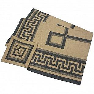 """Одеяло хлопковое """"Греция"""", бежевый, коричневый, 140*205 см"""