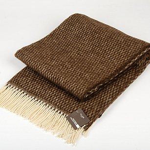 """Плед шерстяной """"Монреаль"""", коричневый-4, 140*200 см"""
