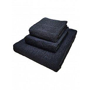 Полотенце махровое Ашхабад греческий бордюр, черный, 40*70 см