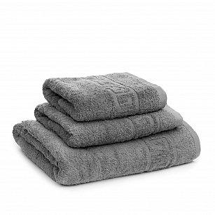 Полотенце махровое Ашхабад греческий бордюр, серый, 40*70 см