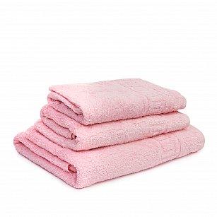 Полотенце махровое Ашхабад греческий бордюр, светло розовый