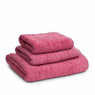 Полотенце махровое Ашхабад греческий бордюр, розовый, 40*70 см