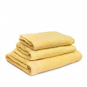 Полотенце махровое Ашхабад греческий бордюр, ярко-желтый