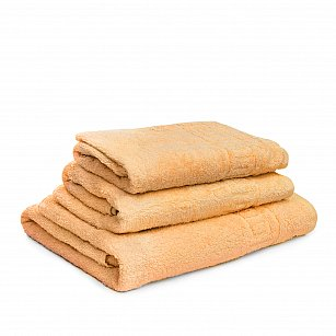 Полотенце махровое Ашхабад греческий бордюр, желтый, 40*70 см