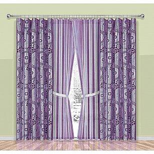 Комплект штор №190W, лиловый