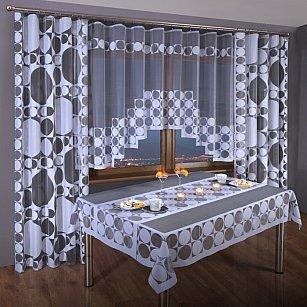 Комплект штор для кухни №3384-01, белый