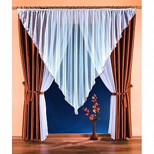 Комплект штор №5876, коричневый