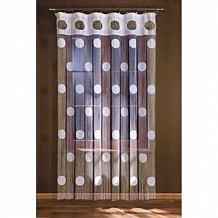 Кисея нитяная штора на кулиске однотонная №148A-01, белый