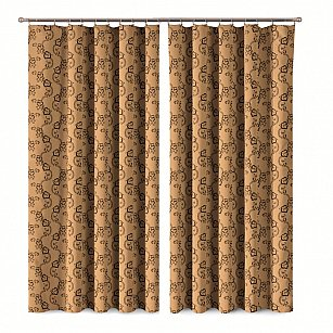Комплект штор Primavera №1110080, коричневый