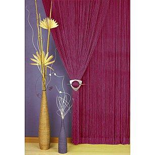 Кисея нитяная штора Alanna, бордовый, 90*250 см
