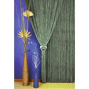 Кисея нитяная штора Alanna, серый, 90*250 см