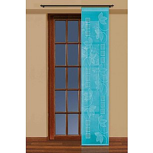 Японская штора №207780/50, бирюзовый