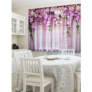 Комплект штор Ламбрекен из цветов