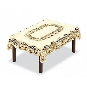 Скатерть Haft №46199, кремово-золотой