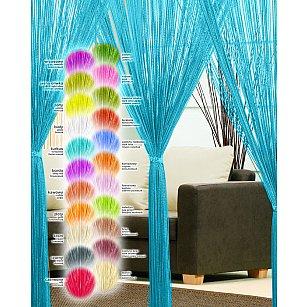 Кисея нитяная штора Haft, голубой, 250*90 см