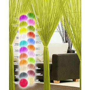 Кисея нитяная штора Haft, светлый оливковый, 250*90 см