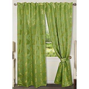 Комплект штор №777172, зеленый