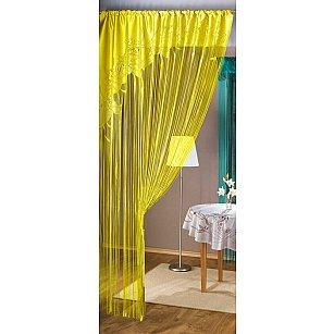 Кисея нитяная штора Judi, желтый, 150*250 см
