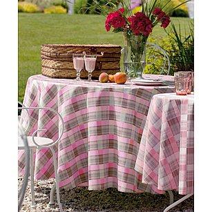 Скатерть Haft № 12993РВ/К, розово-коричневая