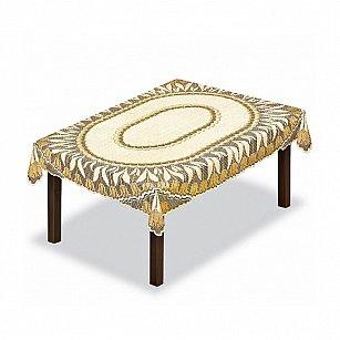 Скатерть №228639, кремовый, золотой