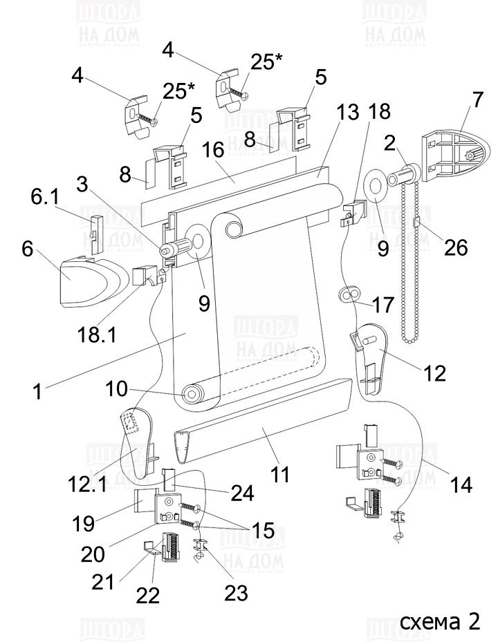 Инструкция по сборке штор