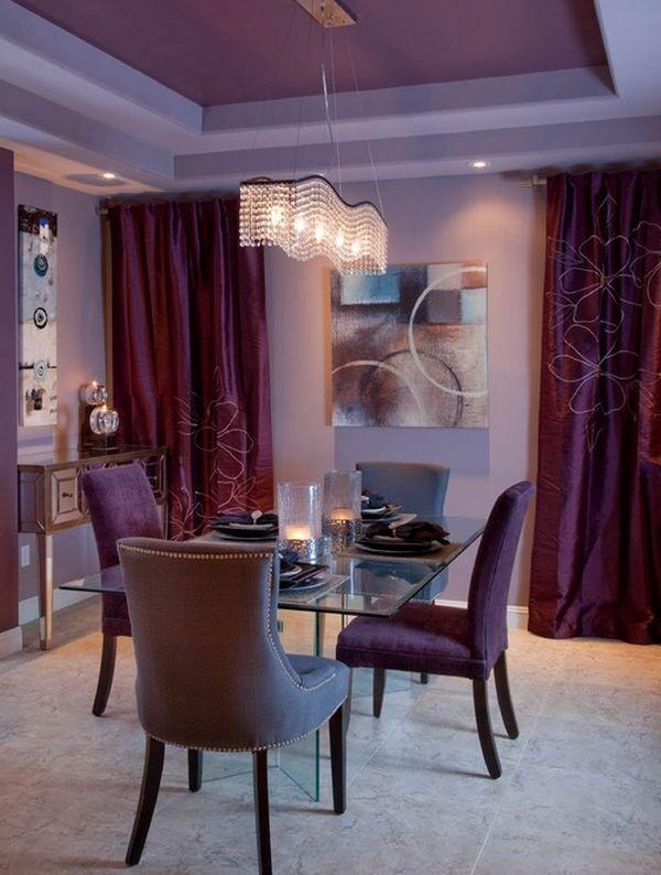 Фиолетовый в интерьере