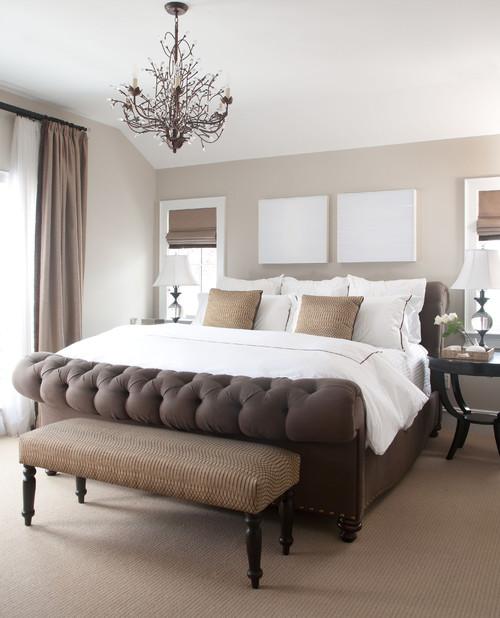 Покрывало на кровать коричневое